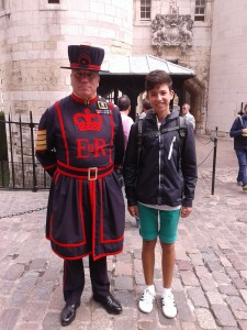 Beefeater guard with me
